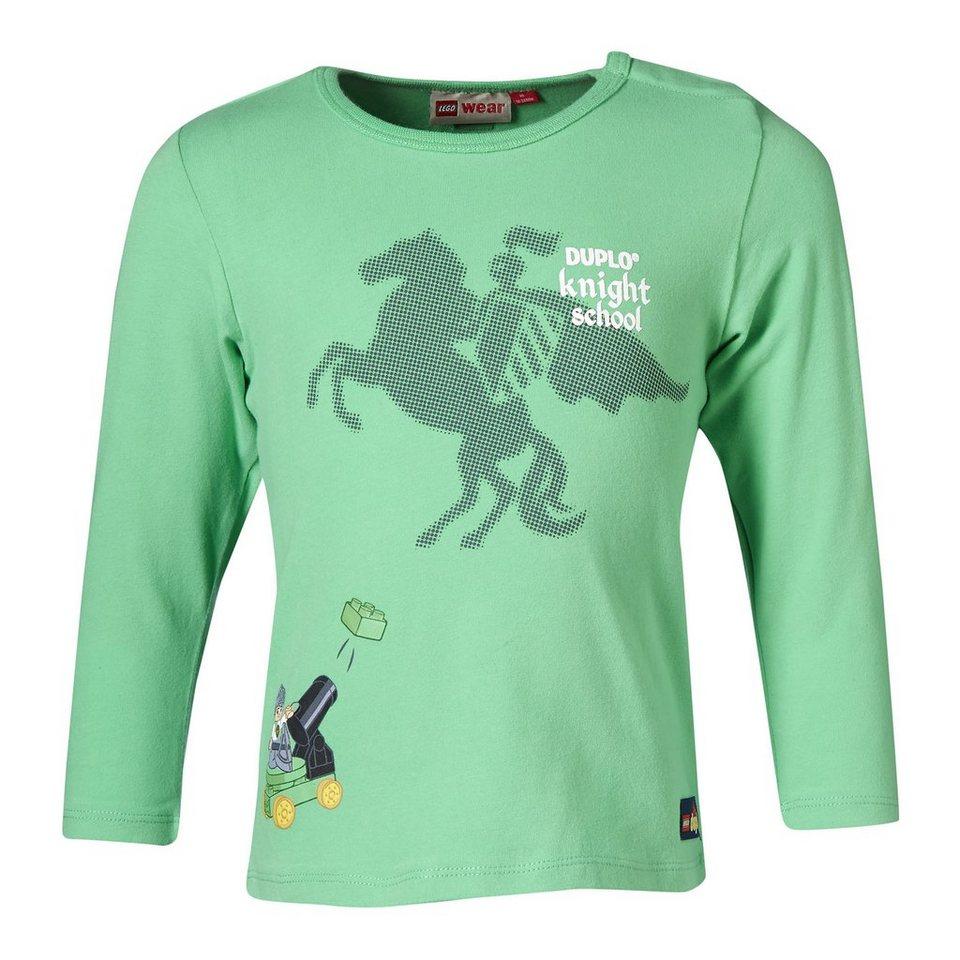 "LEGO Wear Duplo Langarm-T-Shirt ""Knight School"" Shirt Trey in dunkelgrün"