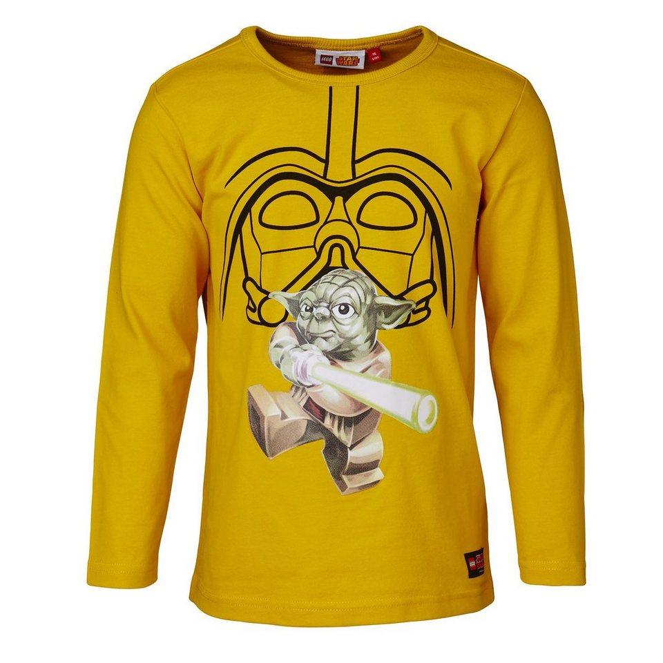 "LEGO Wear STAR WARS(TM) Langarm-T-Shirt Tony ""YODA"" Glow in the Dark in gelb"