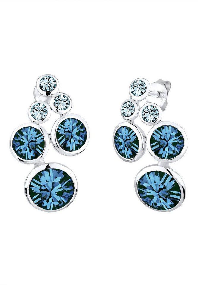 Elli Paar Ohrstecker mit Swarovski® Kristallen, »Allegra, 0310162813« in Silber 925/blau
