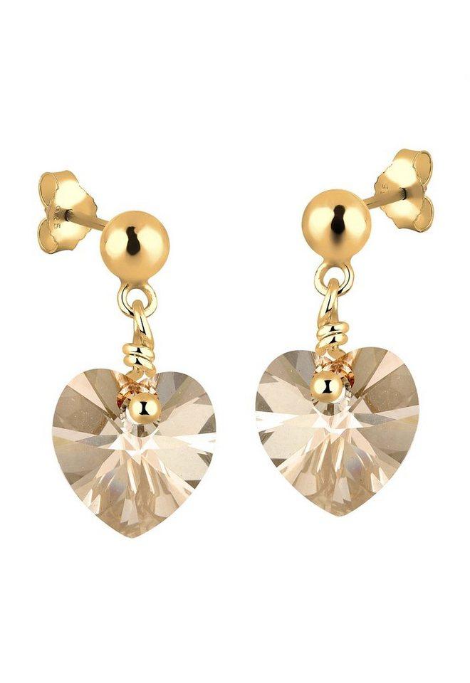 Goldhimmel Paar Ohrstecker mit Swarovski® Kristallen, »Jane, 0304622412« in Silber 925/goldfarben vergoldet
