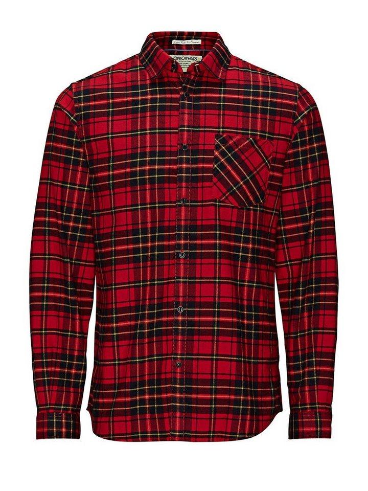 Jack & Jones Kariertes Freizeithemd in Haute Red