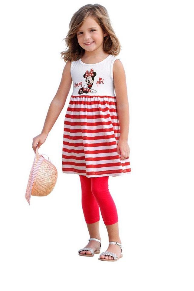 Disney Jerseykleid mit Minnie Mouse Druck, für Mädchen in Weiß-Rot