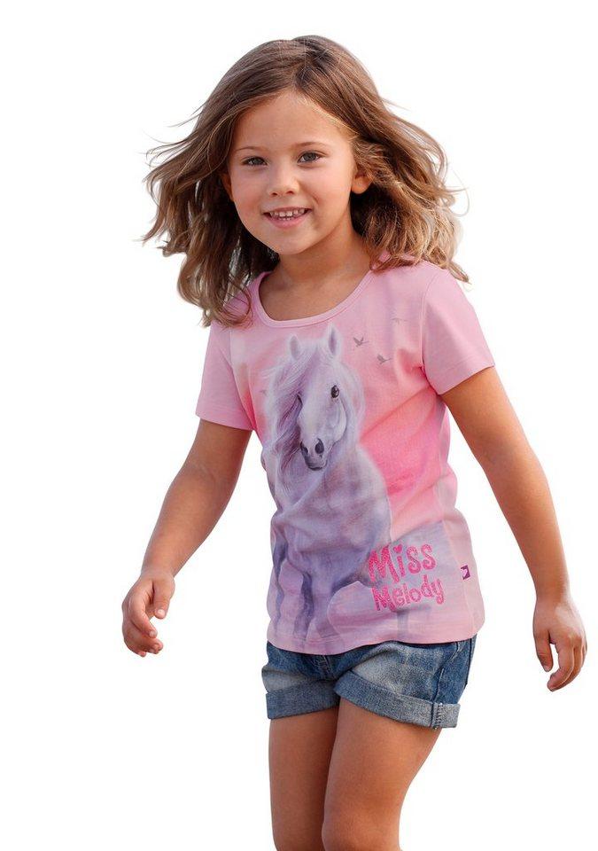 Miss Melody T-Shirt in rosa-bedruckt