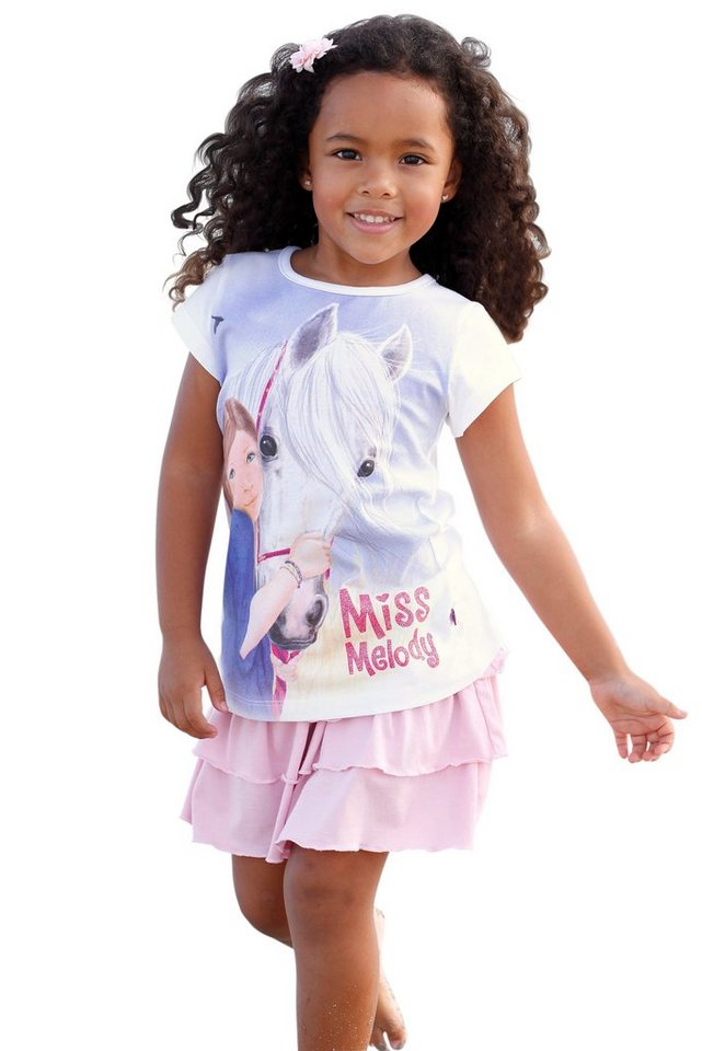 Miss Melody T-Shirt in weiß-bedruckt