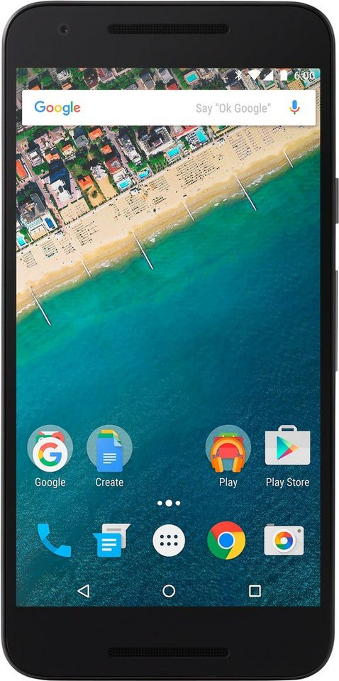LG Nexus 5X 16GB Smartphone, 13,2 cm (5,2 Zoll) Display, LTE (4G), Android 6.0 (Marshmallow) in schwarz