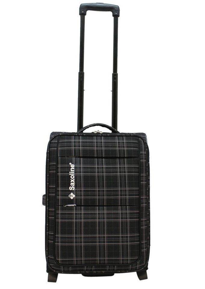 Saxoline Weichgepäck-Trolley mit 2 oder 4 Rollen, »New Checker« in schwarz