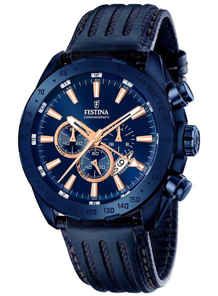 Festina Chronograph »F16898/1« dezentrale Sekunge in blau