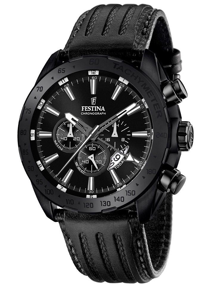 Festina Chronograph mit Dualzeit, »F16902/1« in schwarz
