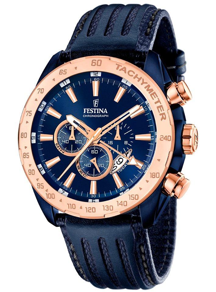Festina Chronograph »F16897/1« dezentrale Sekunde in blau