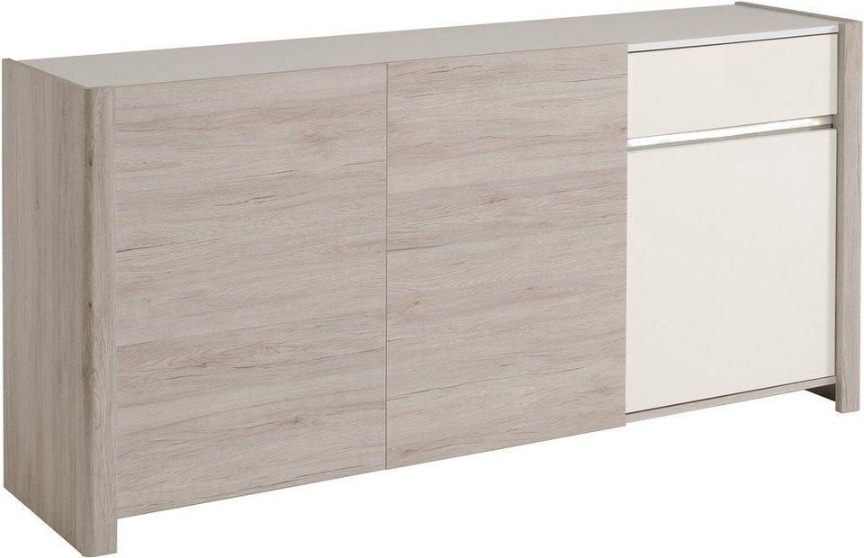 Parisot Sideboard, »Luneo«, Breite 180 cm in eichefb. Portofino grey/weiß