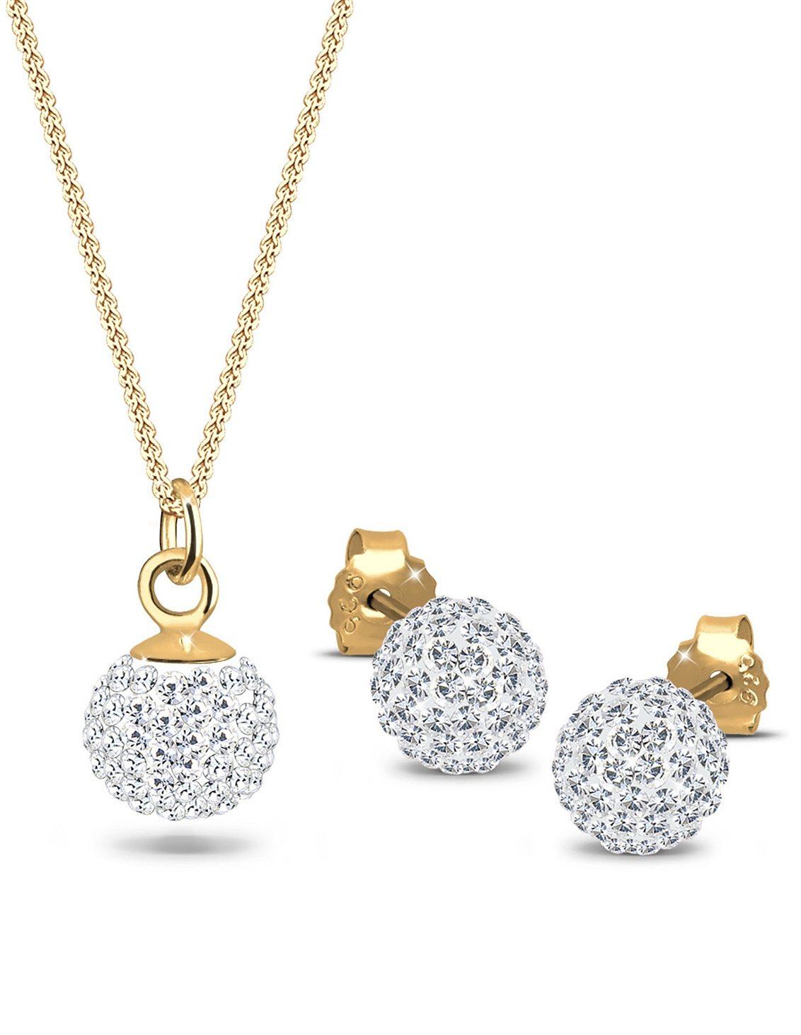 Goldhimmel Schmuckset mit Swarovski® Kristallen (Set, 4 tlg.), »Aurora, 0905310411«