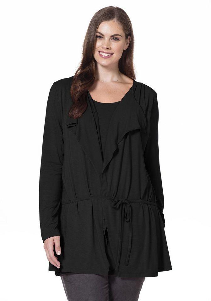 sheego Style 2-in-1-Shirt in schwarz