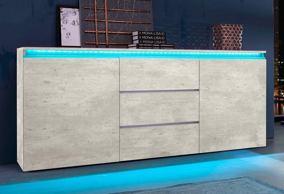 Tecnos Sideboard Breite 180 Cm 3 Schubkasten Online Kaufen Otto