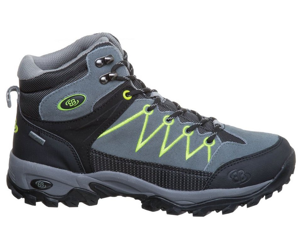 Brütting Outdoorstiefel »MOUNT LOGAN HIGH« in grau/schwarz/lemon