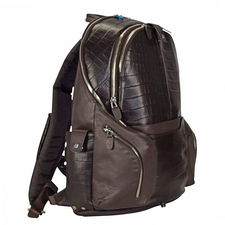 Piquadro Coleos S05 Rucksack Leder 42,5 cm Laptopfach in dark brown
