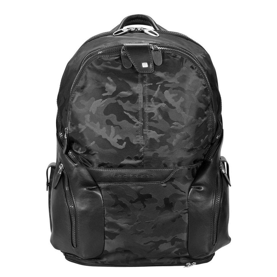 Piquadro Coleos S09 Rucksack Leder 42,5 cm Laptopfach in camo nero