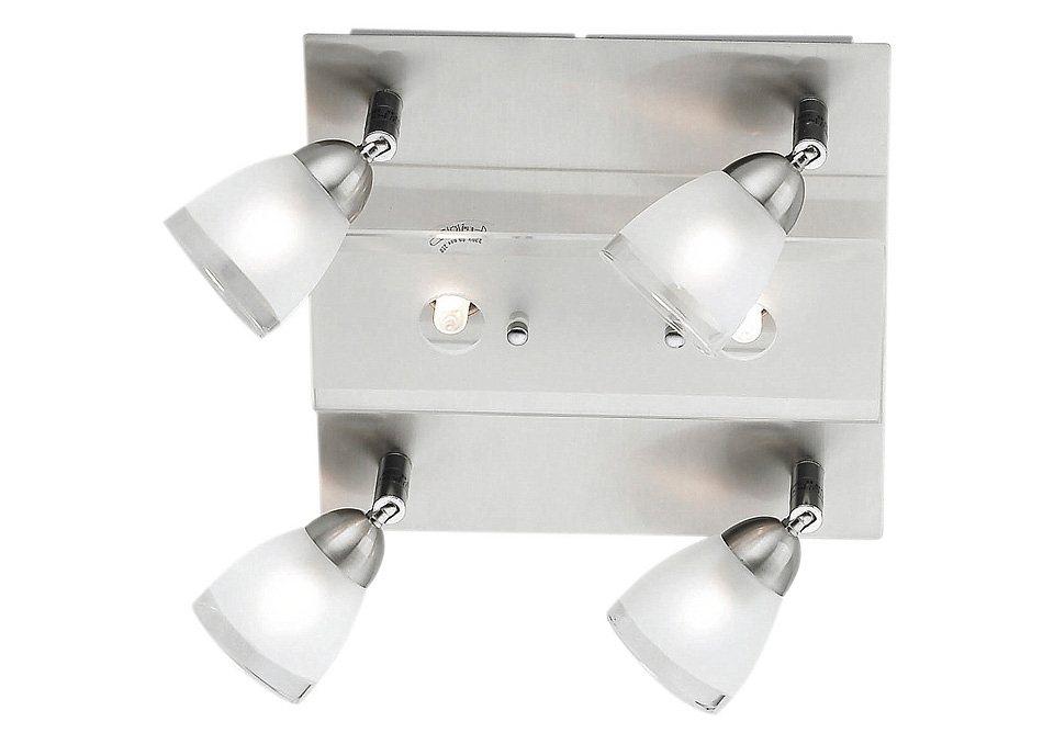 Halogen-Deckenlampe, 6-flg., Leuchten Direkt in silberfarben