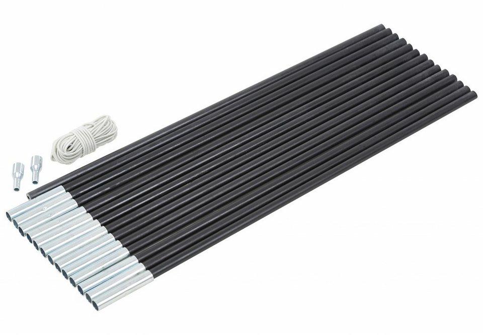 CAMPZ Zeltzubehör »Glasfaser Gestänge-Set 11mm/7,0m« in schwarz