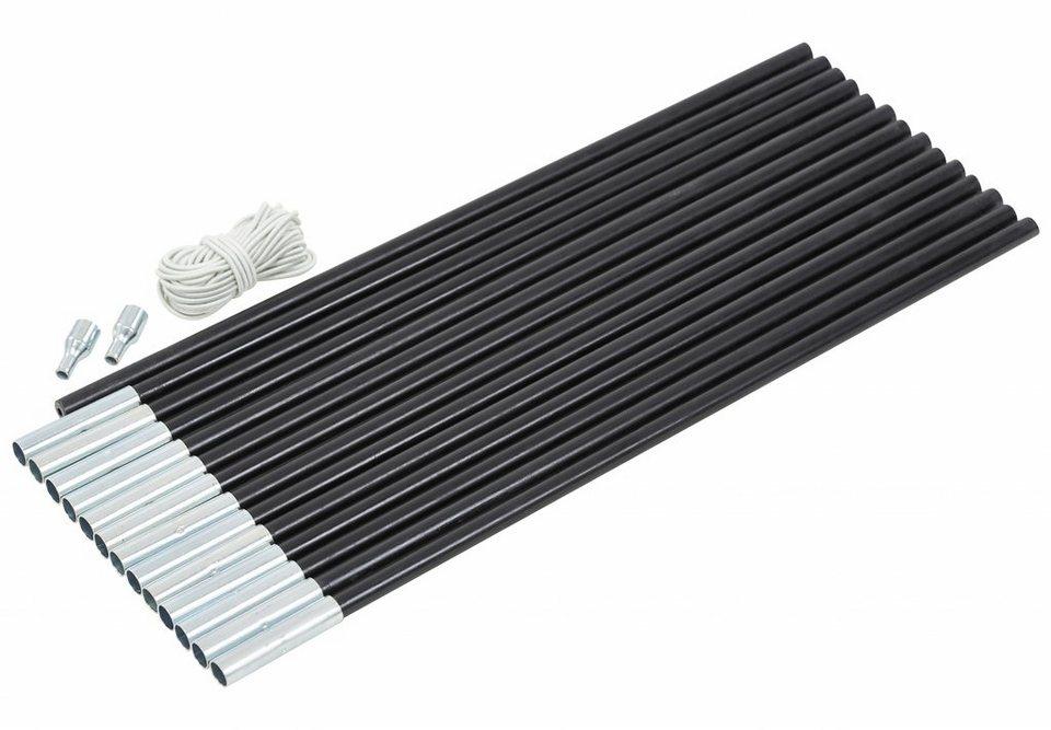 CAMPZ Zelt »Glasfaser Gestänge-Set 13mm/7,0m« in schwarz