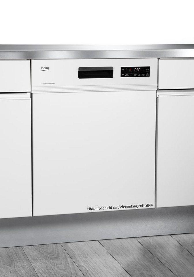 Beko Integrierbarer Einbau-Geschirrspüler DSN6634W1, A++, 10 Liter, 13 Maßgedecke in Weiß