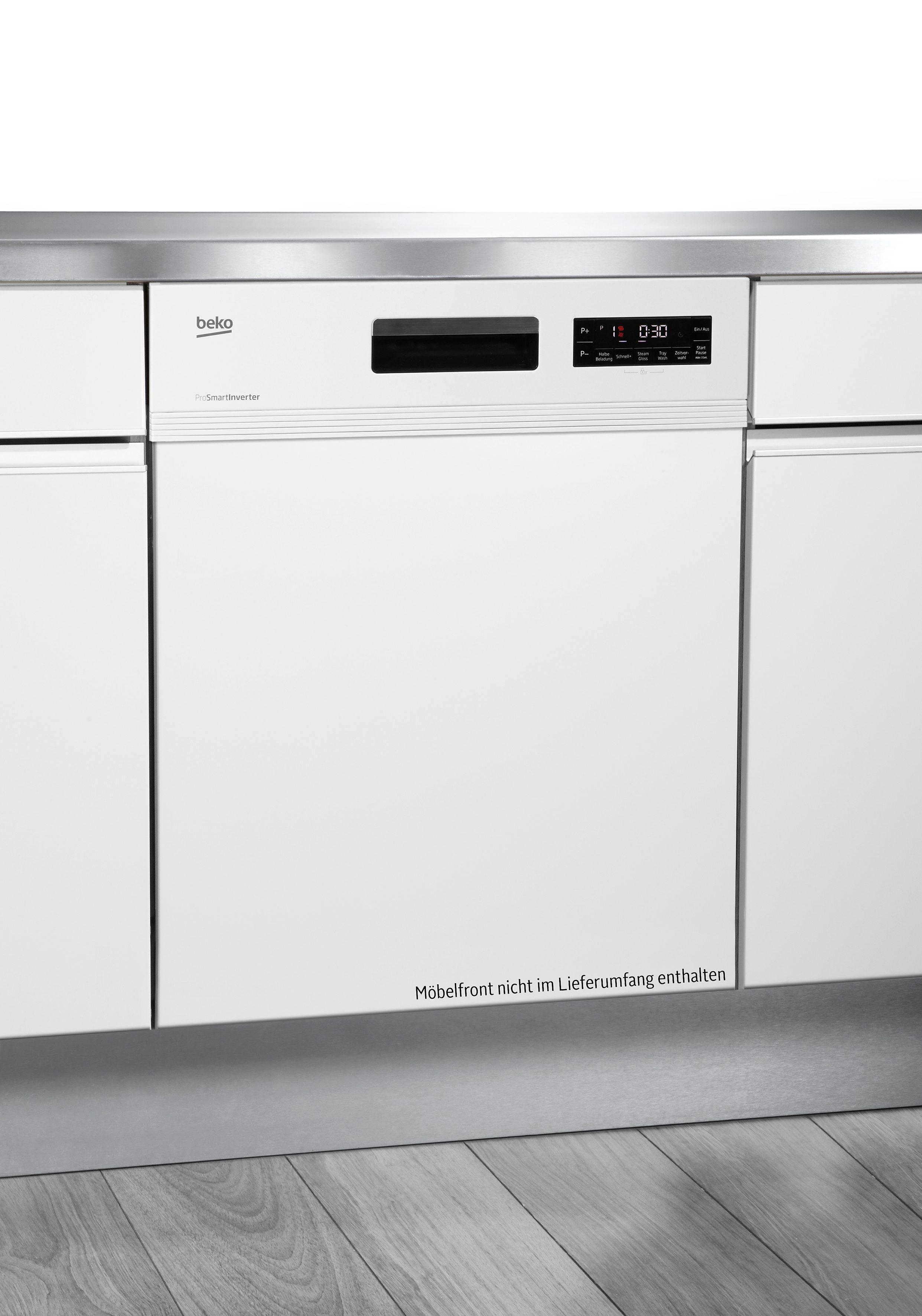 Beko Integrierbarer Einbau-Geschirrspüler DSN6634W1, A++, 10 Liter, 13 Maßgedecke
