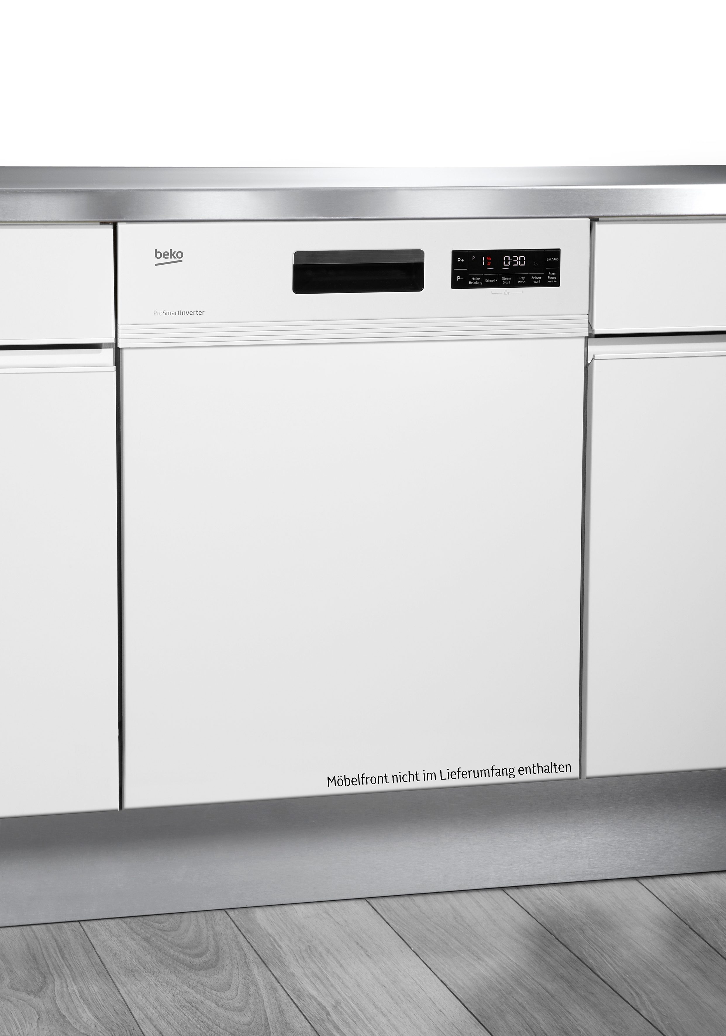 BEKO teilintegrierbarer Geschirrspüler, DSN6634W1, 10 l, 13 Maßgedecke