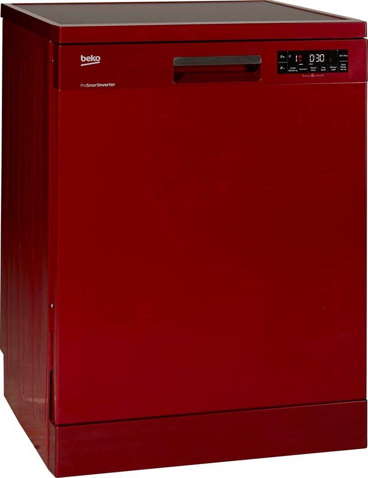 Beko Geschirrspüler DFN28320R, A++, 10 Liter, 12 Maßgedecke in Rot