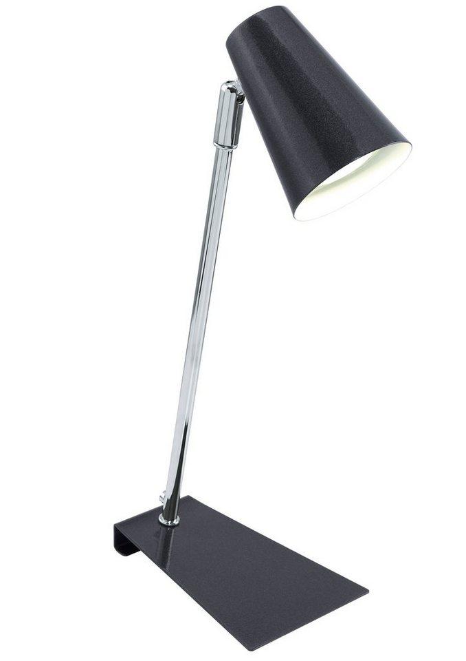 Eglo LED-Tischleuchte, 1flg., »TRAVALE« in Stahl, chromfarben mit schwarz