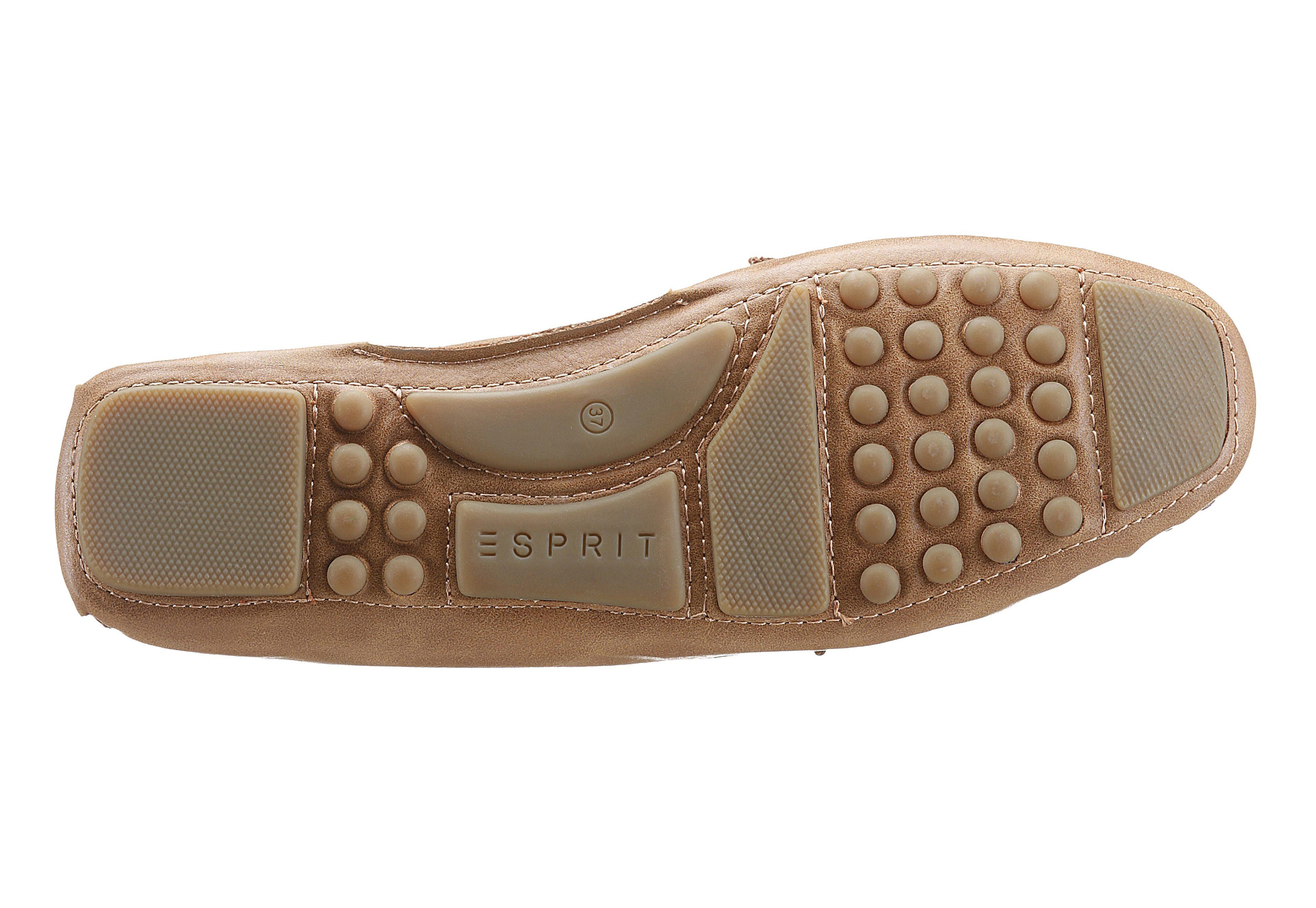Esprit Sheena Loafer Slipper, in Mokassin-Optik  braun