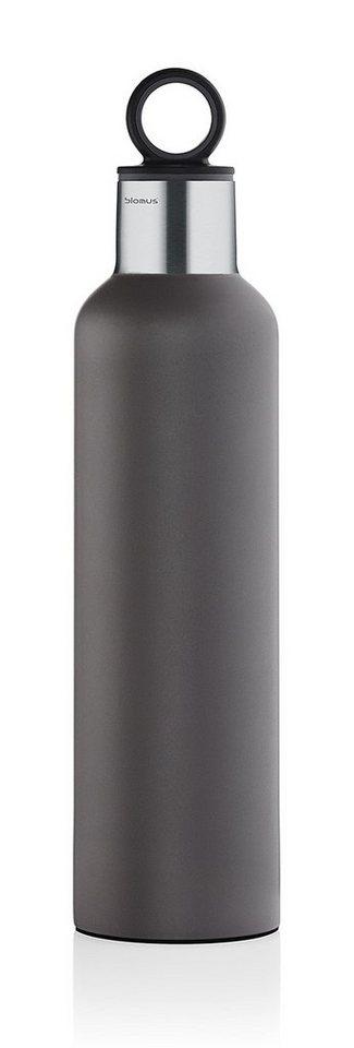 Blomus Isolierflasche, Edelstahl matt, »2GO« in grau