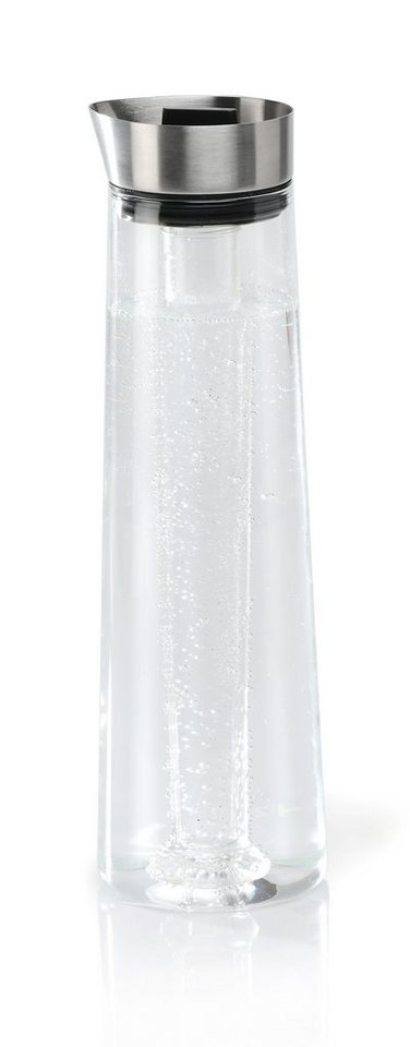 Blomus Kühlkaraffe, 1,2 Liter, »ACQUA COOL« in transparent/silberfarben