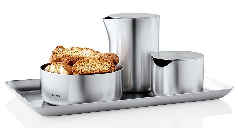Blomus Frühstück-Set, Edelstahl matt, »COFFEE-TEA« in silberfarben