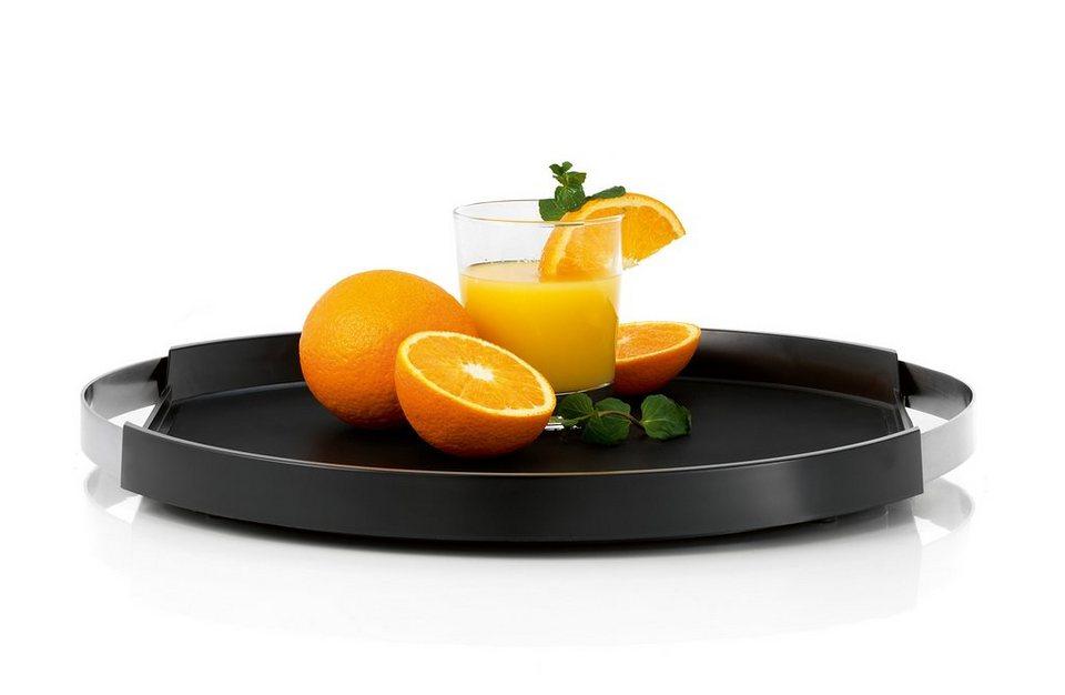 Blomus Tablett, 40 cm, »PEGOS« in schwarz, silber