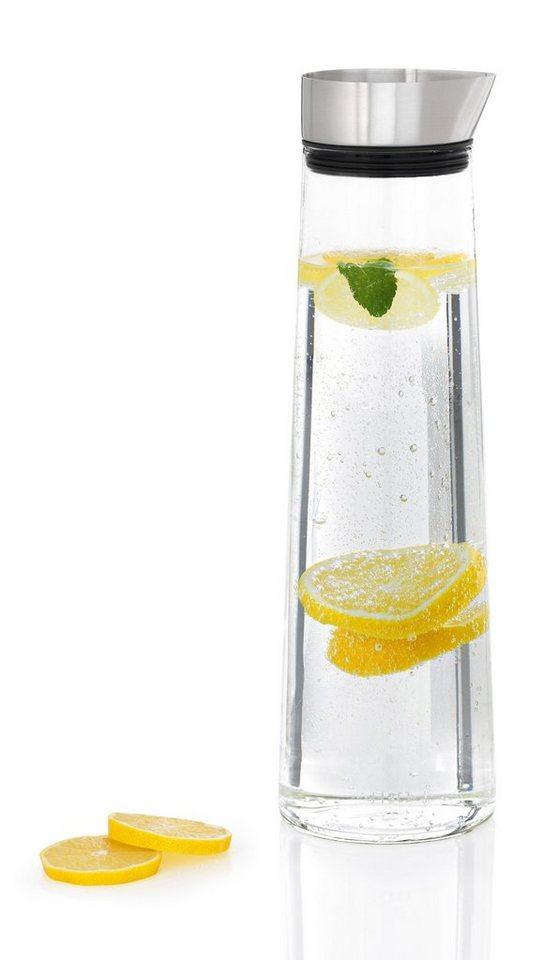 Blomus Wasserkaraffe, Edelstahl matt, 1,5 Liter, »ACQUA« in transparent