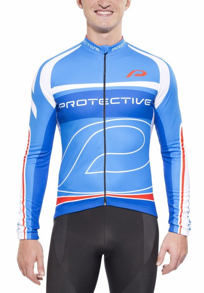 Protective Radtrikot »Matthew LS Jersey Men blue« in blau