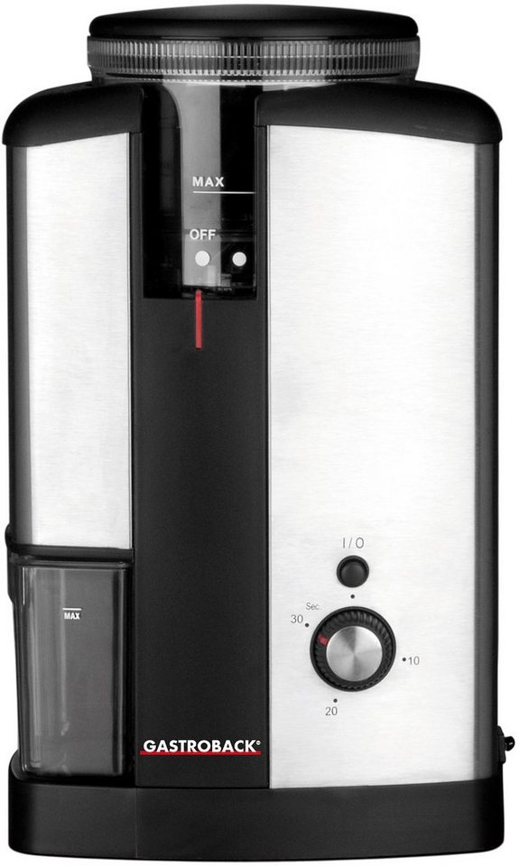 Gastroback Kaffeemühle Design Kaffeemühle Advanced 42602 in edelstahl
