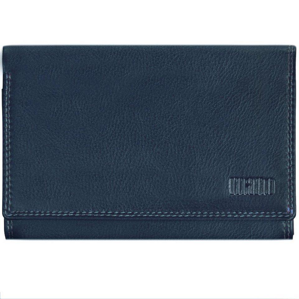 mano Multicolorus Geldbörse Leder 14 cm in blau-hellblau