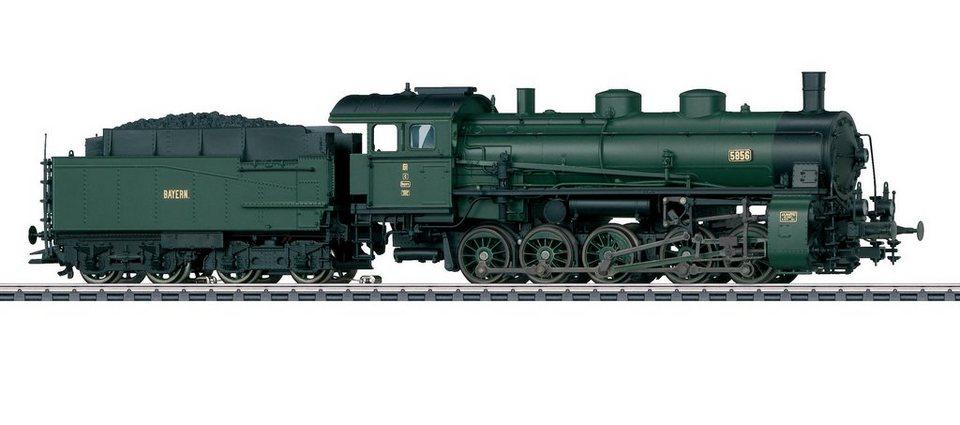 Märklin Dampflok Spur H0, »Güterzug-Dampflokomotive mit Schlepptender G5/5, DRG - Wechselstrom« in grün
