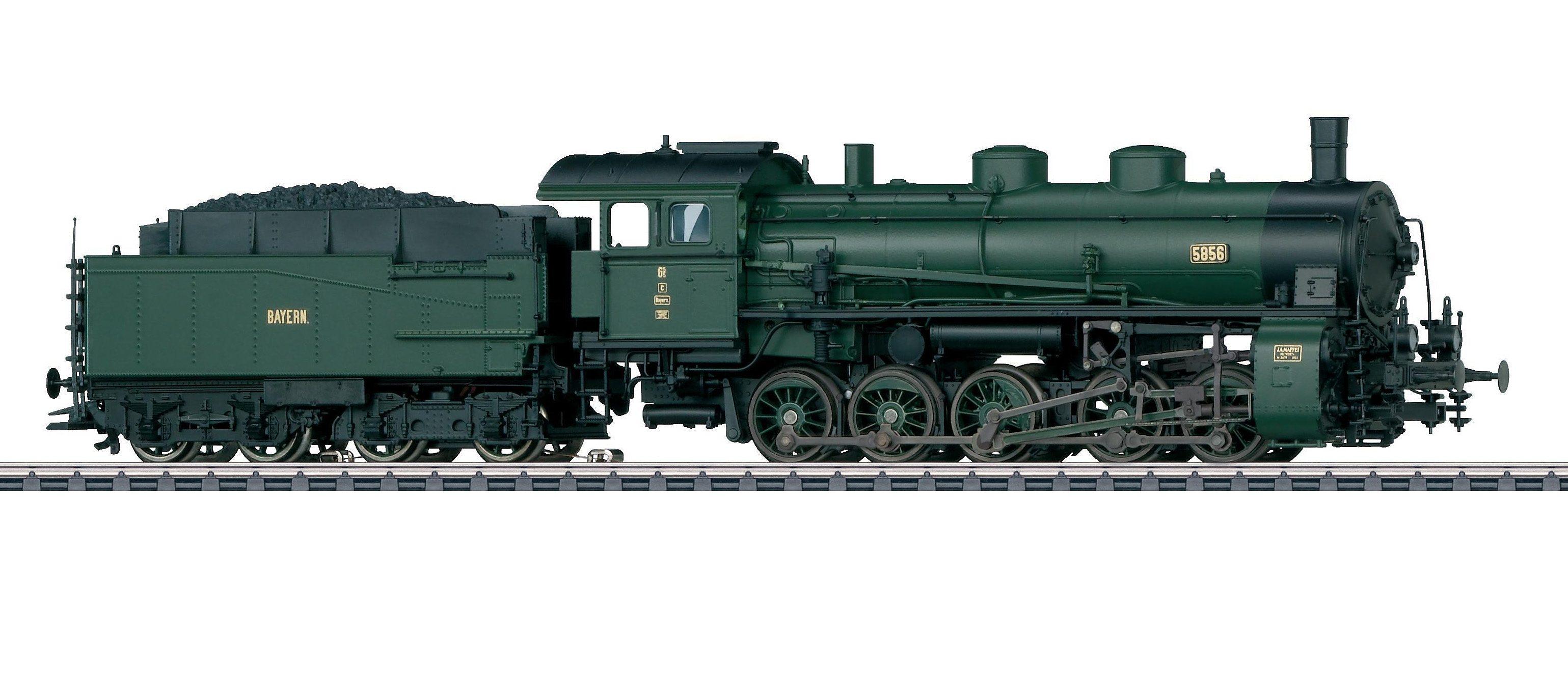 Märklin Güterzug-Dampflok Spur H0 - 39550, »Lok mit Schlepptender G5/5, DRG - Wechselstrom«