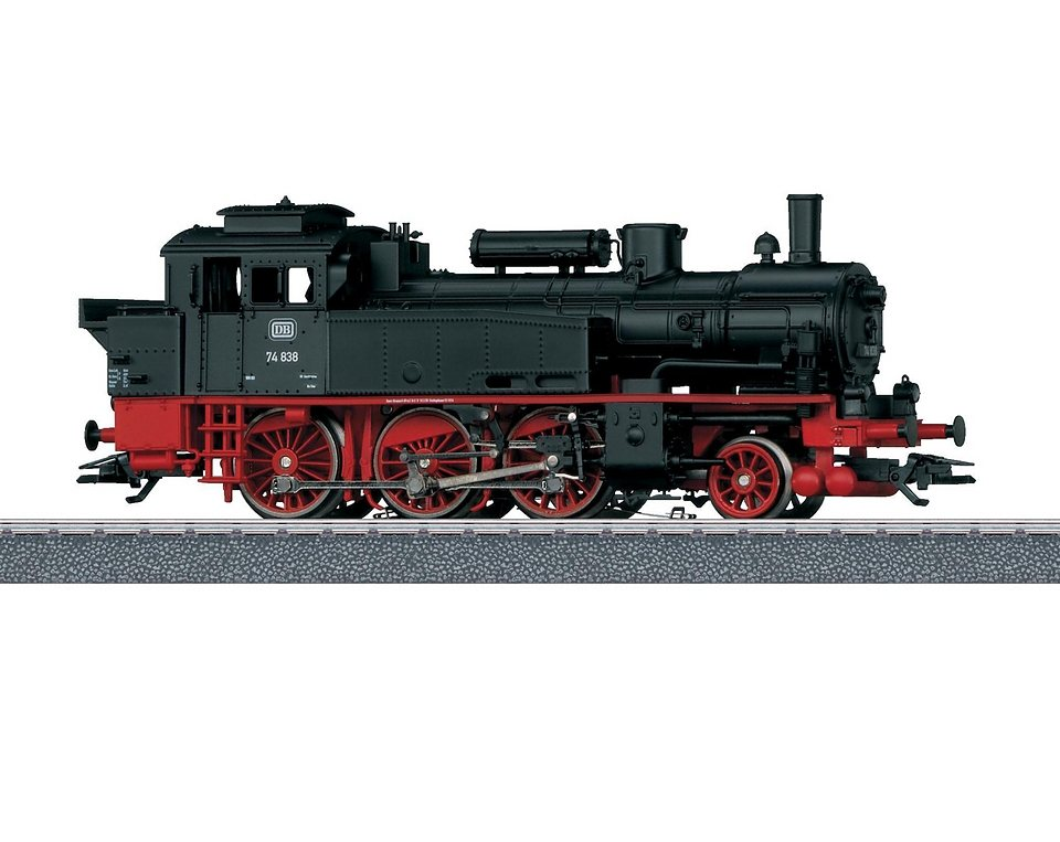 Märklin Tenderlokomotive Spur H0, »Tenderlok BR 74, DB - Wechselstrom - 36740« in schwarz