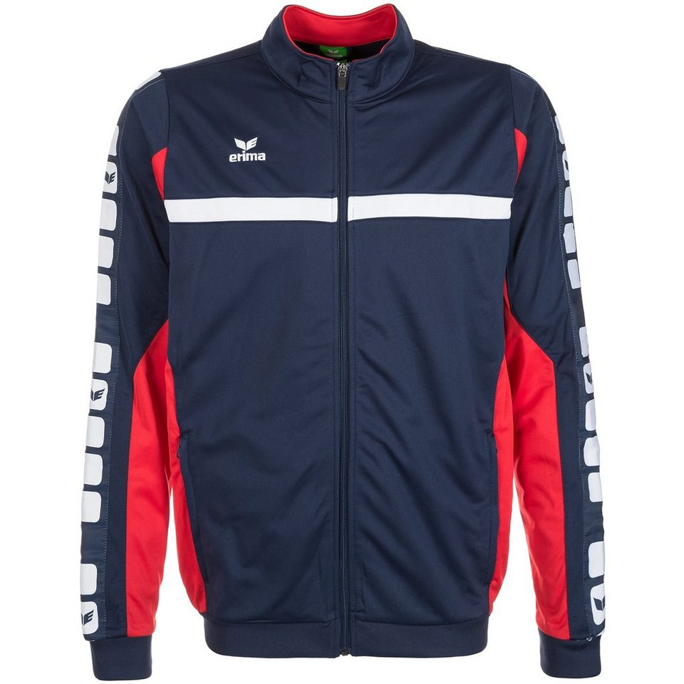 ERIMA 5-CUBES Polyesterjacke Kinder in new navy/rot