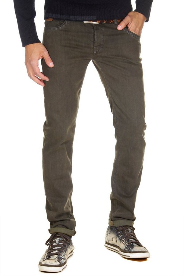Bright Jeans Stretchjeans regular fit in khaki
