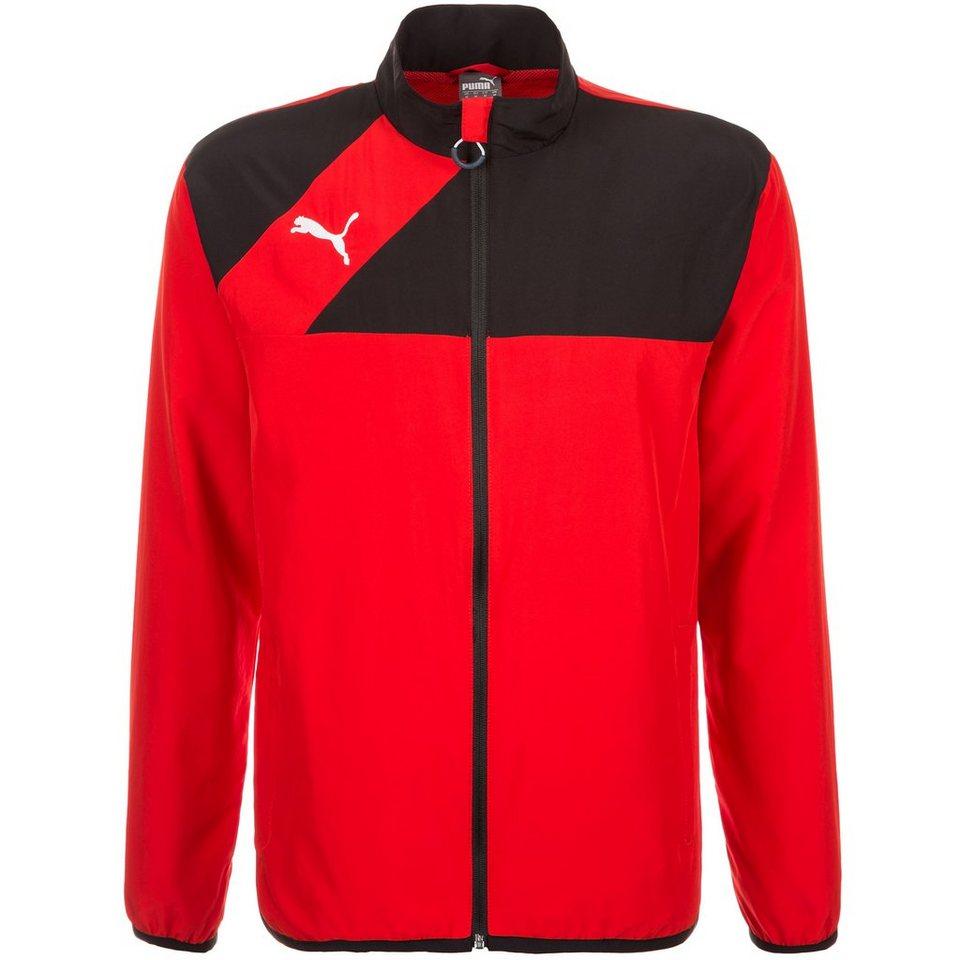 PUMA Esquadra Woven Trainingsjacke Herren in rot / schwarz