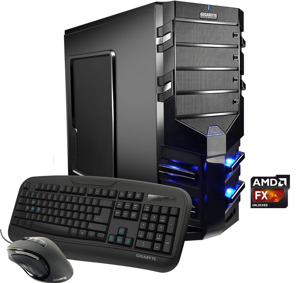 Hyrican Gaming PC AMD FX-6300, 8GB, 1TB + 120GB SSD, R7 360, Windows 10 »Alpha Gaming 4973«