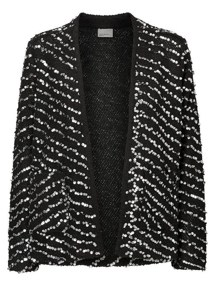 Vero Moda Paillettenverzierter Blazer in Black