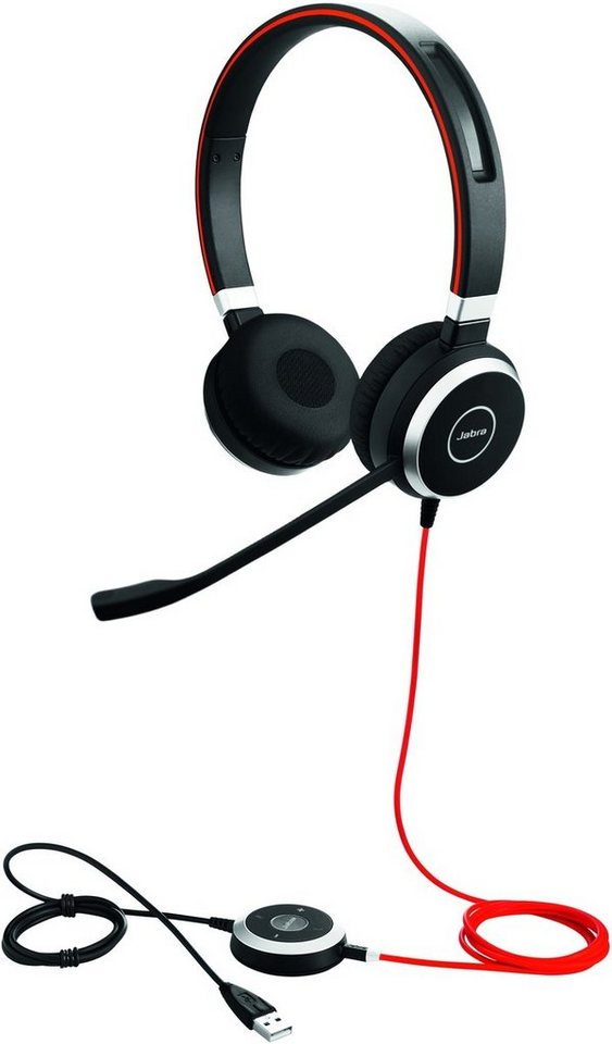 Jabra Headset »Evolve 40 MS Duo USB NC« in Schwarz