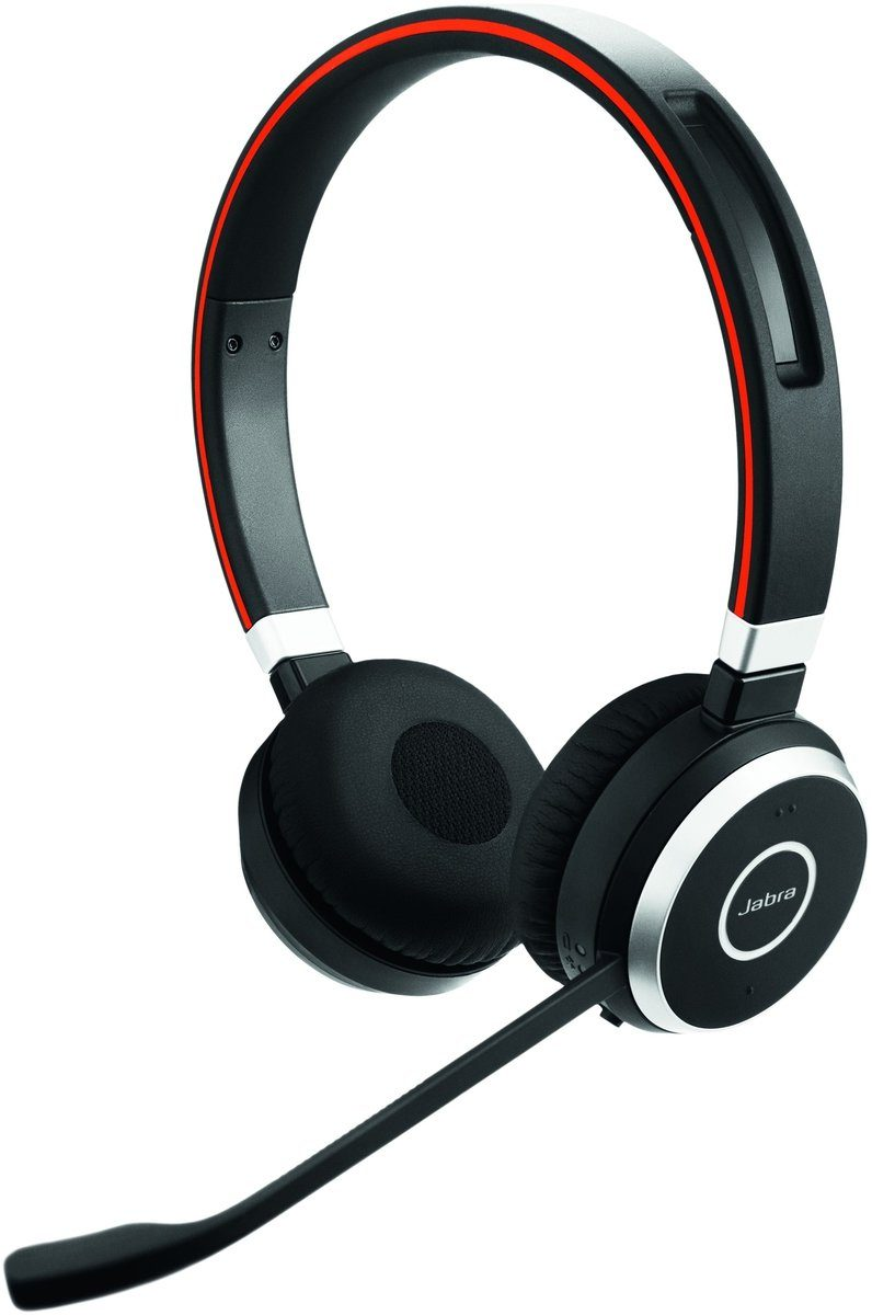 Jabra Headset »Evolve 65 MS binaural USB NC mit Ladestation«