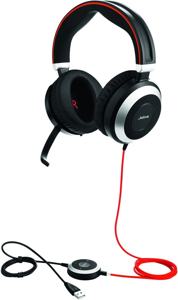 Jabra Headset »Evolve 80 MS Duo USB NC«