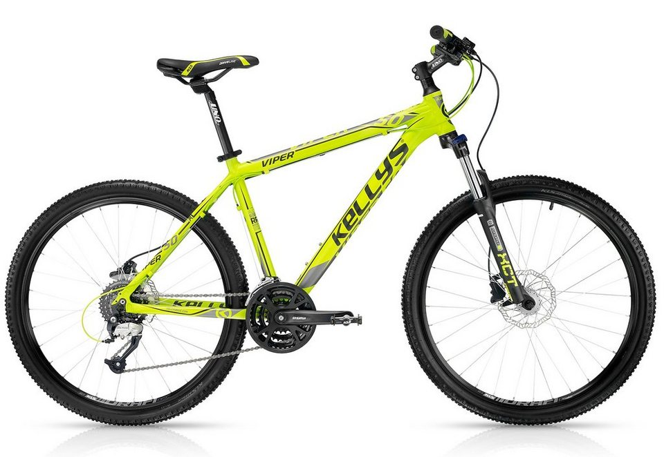 kellys mountainbike hardtail 26 zoll gelb 24 gang kettenschaltung viper 50 lime online. Black Bedroom Furniture Sets. Home Design Ideas