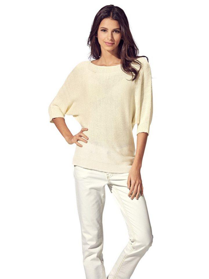 Oversized-Pullover in ecru